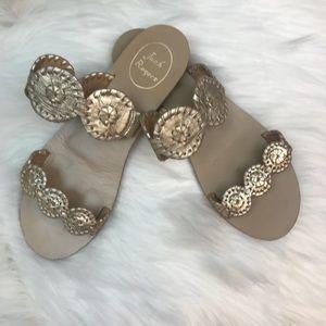 Jack Rogers Metallic Gold Double Strap Sandals